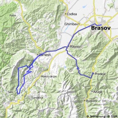 Piatra Craiului: Predeal - Zarnesti - Dambovicioara - Sirnea - Magura - Brasov