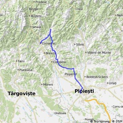 Comarnic - Secaria - Valea Doftanei - Brebu - Telega - Ploiesti