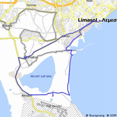 Cycling routes and bike maps in and around Limassol Bikemap Your