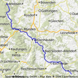 Vom Teutoburger Wald zum Fichtelgebirge Etappe 3
