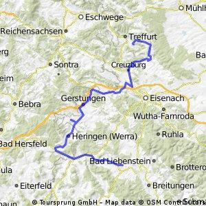 Vom Teutoburger Wald zum Fichtelgebirge Etappe 4