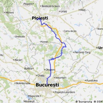 Ploiesti - Barcanesti - Gradistea - Caciulati - Bucuresti