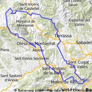 Olesa -Tiidabo- Rellinars - Marganell Esparreguera - Olesa
