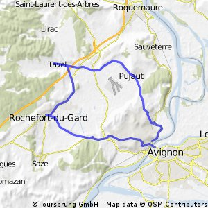 Avignon, Valliguières, Tavel, Villeneuve