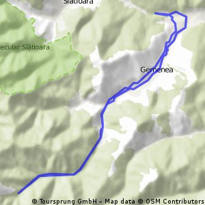 Cheile din Gemenea GPS
