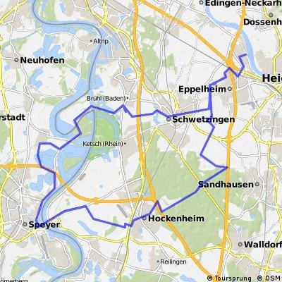 Heidelberg- Hockenheim-Speyer-Ottersheim-Brühl-Schwetzingen