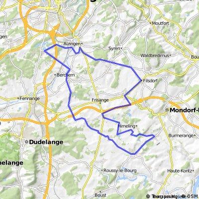 LUX Filsdorf - Sud-Rodemack et retour