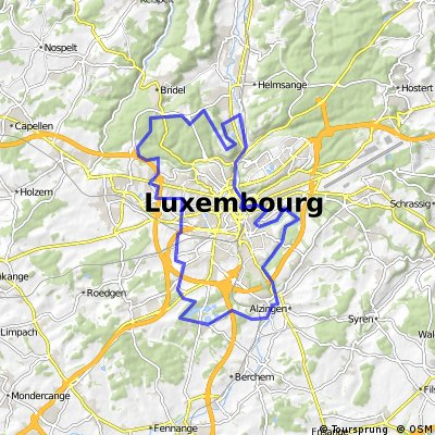 LUX Pistes Cyclables Luxembourg