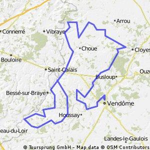 ETAPE 3 - SAVIGNY / BRAYE - VENDOME - 208KM