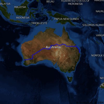 2000 Perth to Brisbane trip