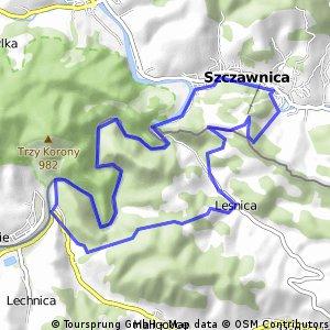 Czerwony Klasztor - Leśnica - Szczawnica - Przełom Dunajca