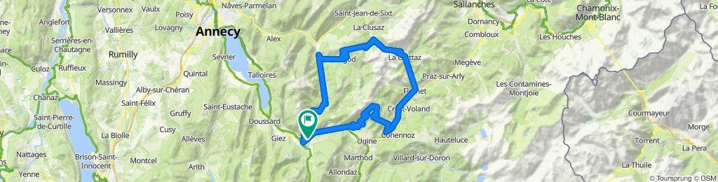Faverges/HauteSavoie'05, 2.Etappe: Marais + Croix-Fry + Aravis + Arpettaz