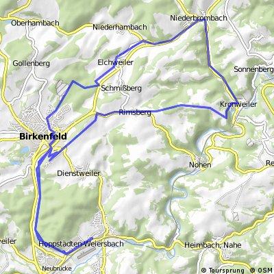 Radweg-Niederbrombach-Kronweiler-Rimsberg-Kar-Radweg
