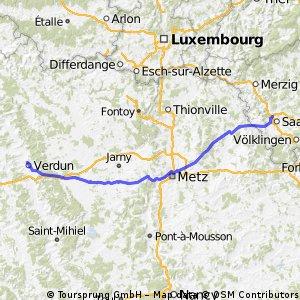 Maas-2 --- Saarlouis - Verdun