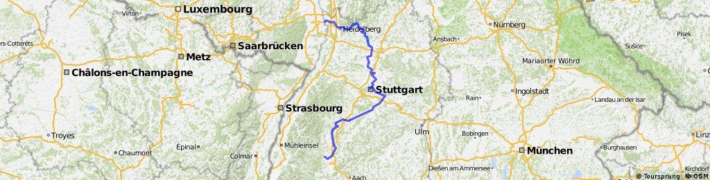 Neckarradweg Karte.Neckar Radweg Bikemap Deine Radrouten