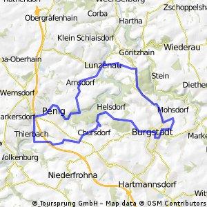 Bilz-Route Burgstädt-Lunzenau-Penig (Hauptroute)