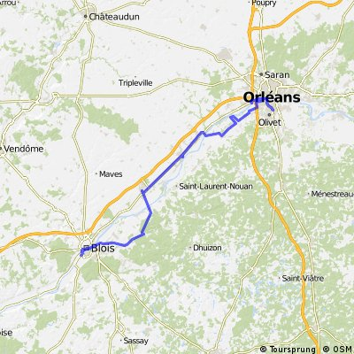von orleans nach Blois über Chambord