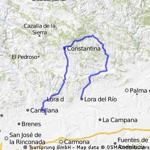 Lora to Los Rosales via Constantina