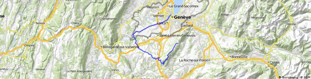 Geneva Train Station To Mont Saleve | Bikemap - Your bike routes