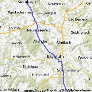 Main-Radweg: Etappe 1: Creußen-Kulmbach
