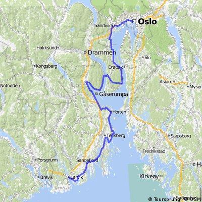 Oslofjorden vest Oslo Horten Larvik Bikemap Your bike routes
