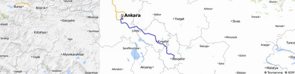 TÜRKEI-RUNDFAHRT 2014 Tour 1 Ankara - Göreme