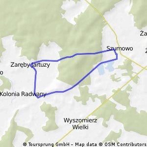 Pętla 10,58km - ZarębyJartuzy-Radwany-Szumowo