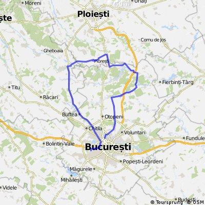 Moara Vlasiei - Ciolpani - Potigrafu - Poienari - Bujoreanca - Buftea - Bucuresti