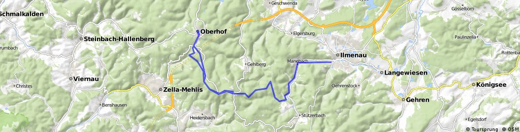 Ilmenau - Oberhof und zurück