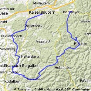 Hochspeyer-Waldleiningen-Elmstein-Iggelbach-Leimen-Merzalben-Clausen-Waldfischbach-Queidersbach-KL
