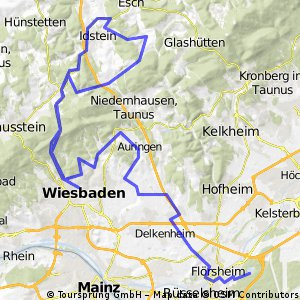 2011 Ironman 70.3 Wiesbaden Radstrecke