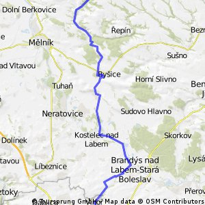 Černý most - Všetaty - Hrad Kokořin