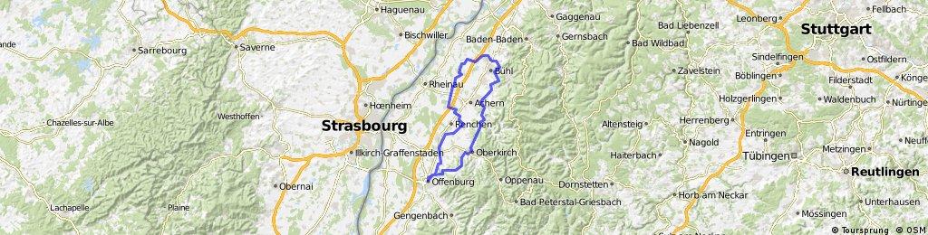 20080429, Ortenauer Radweg nach Süden - durch die Weinberge retour nach Norden