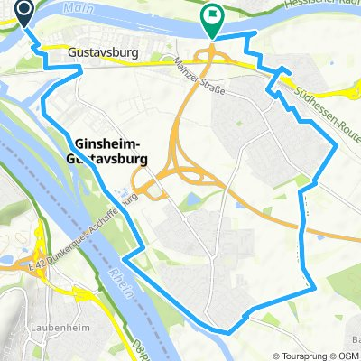 Gustavsburg, Ginsheim, Bischofsheim, Hochheim