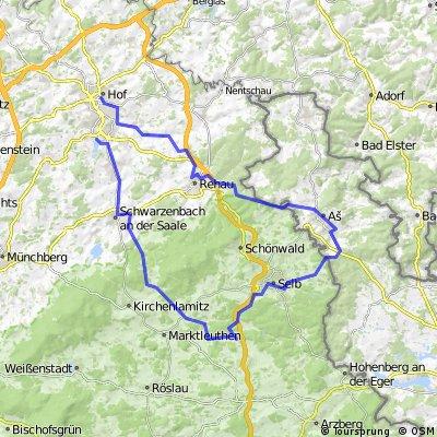 ADFC-Hof: Tour über Asch zum Brückenradweg