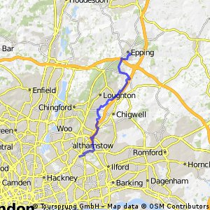 Leytonstone to Epping Walk Roding Valley