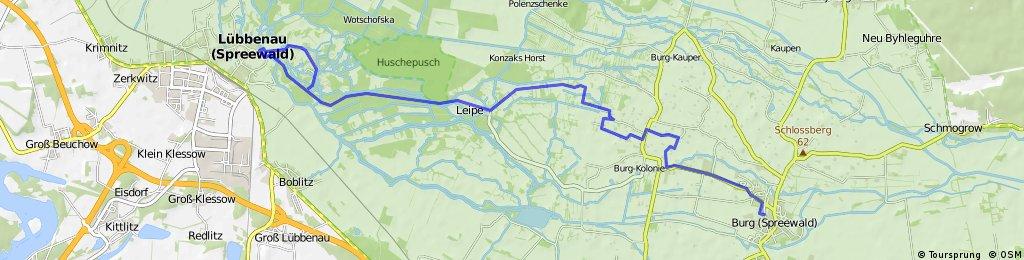 Burg- Leipe- Lübbenau- Lehde und zurück