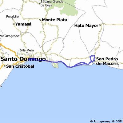 1.Santo Domingo - San Pedro de Macorís - Santo Domingo | 148 Kms.