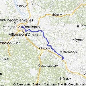 e13 Bordeaux – Le Mas-d'Agenais