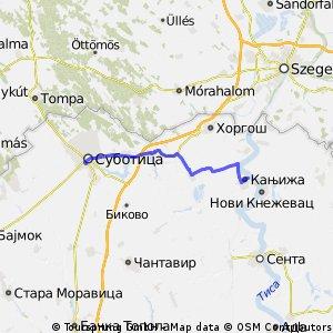Szabadka-Magyarkanizsa 40km OSM
