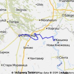 Szabadka-Magyarkanizsa ver1 52km OSM