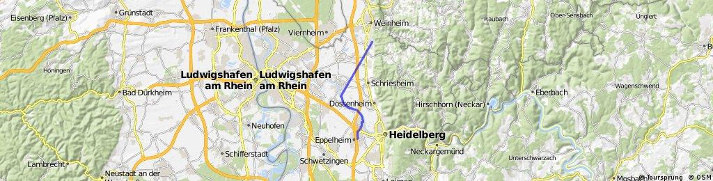 Von Weinheim-Lü nach heidelberg ABB