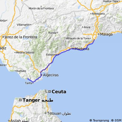 Torremolinos - Valdevaqueros (Tarifa)
