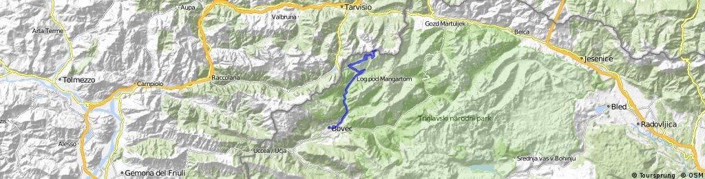Tour4 Teil 1 Bovec - mangart 2014