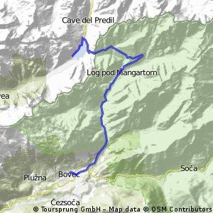 Tour 4 Teil 3 Lago del Predil nach Bovec