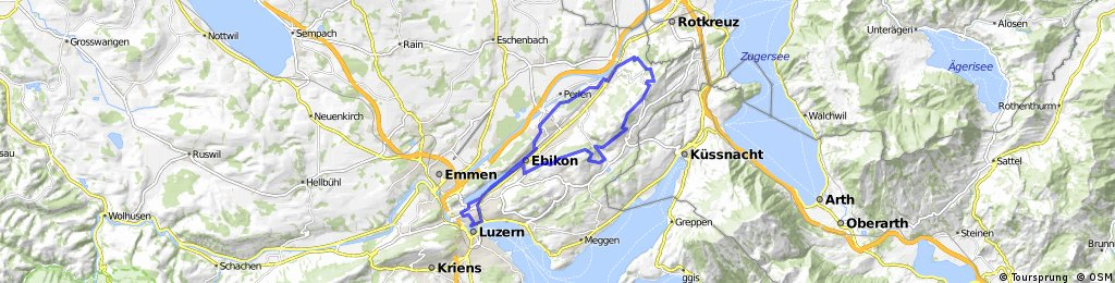 Luzern-Dottenberg-Michaelskreuz-Luzern