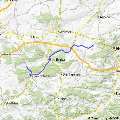 Jena Hohenfelden über Bad Berka