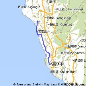 Section 14: 台南 → 高雄