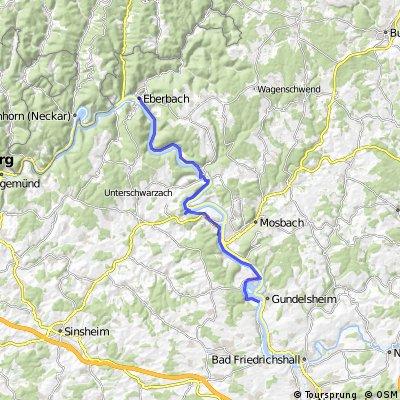 1.Etappe Burgen-Radweg