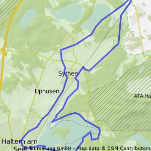 Münsterland Rundkurs 169 Halterner Seentour